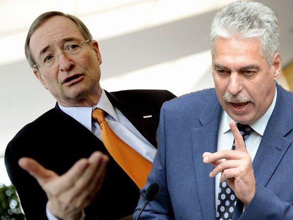 WK-Präsident Leitl stärkt seinem Parteifreund den Rücken.