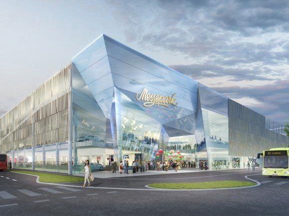 So soll er aussehen, der erweiterte Messepark in Dornbirn.