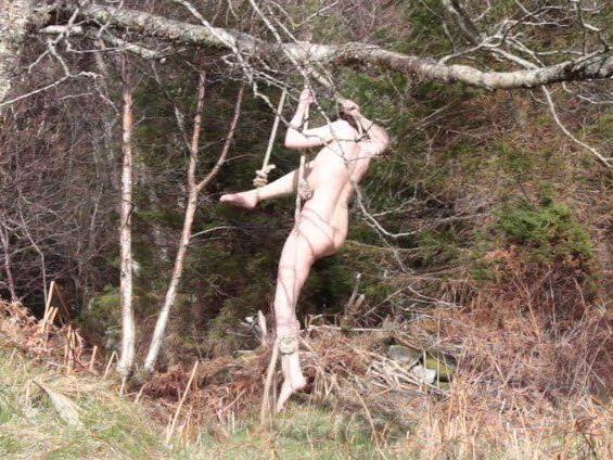 Fast vier Stunden hing sie im Baum fest und schrie um Hilfe