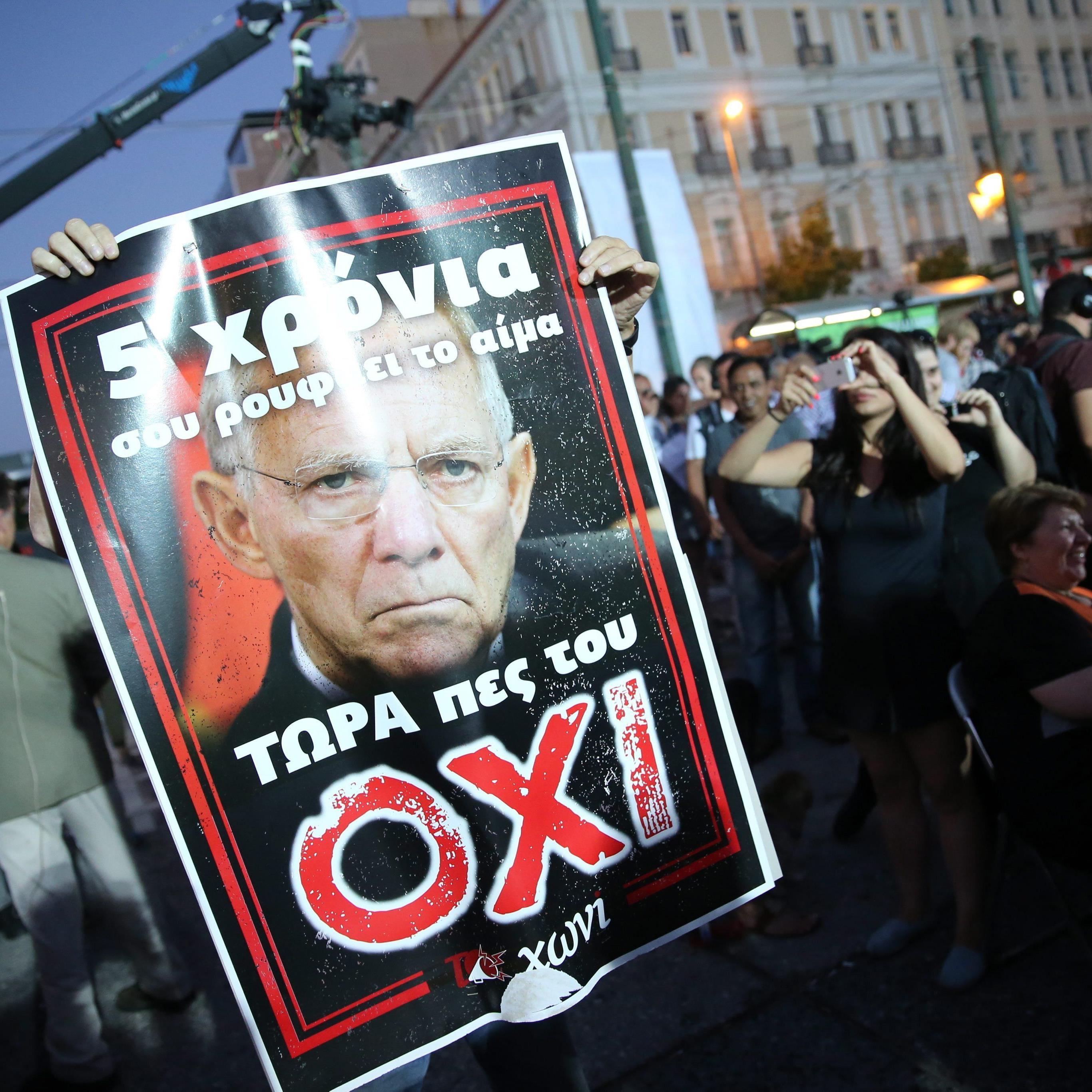 Griechen bieten Gläubigern trotz Grexit-Gefahr die Stirn.