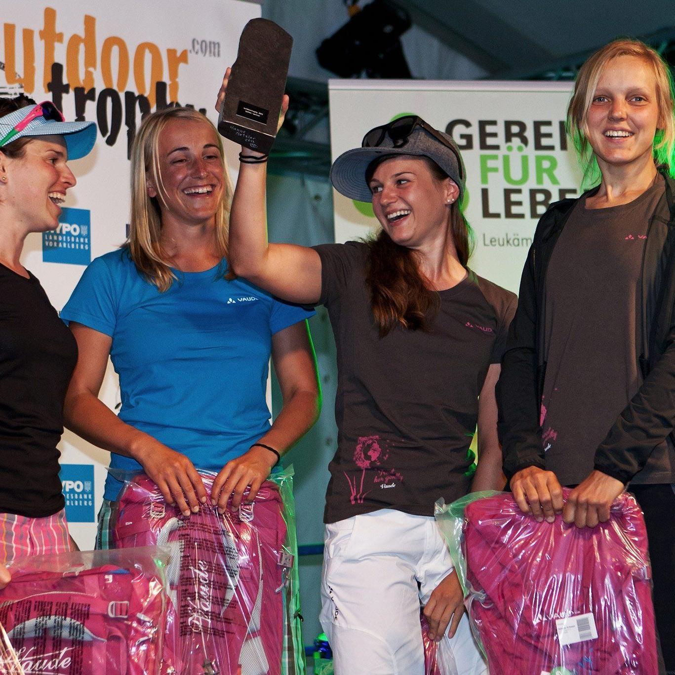 Die letztjährigen Gewinner bei den Frauen der Outdoor Trophy im Bregenzerwald