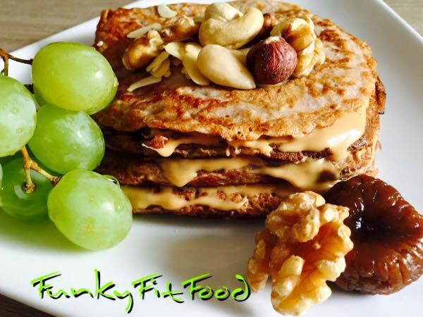 Leckeres Rezept von FunkyFitFood: Power-Pancakes.