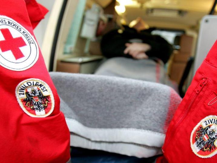Der Motorradlenker wurd ins LKH Bregenz gebracht