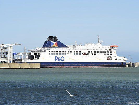 Fähren des britischen Unternehmens P&O sitzen fest