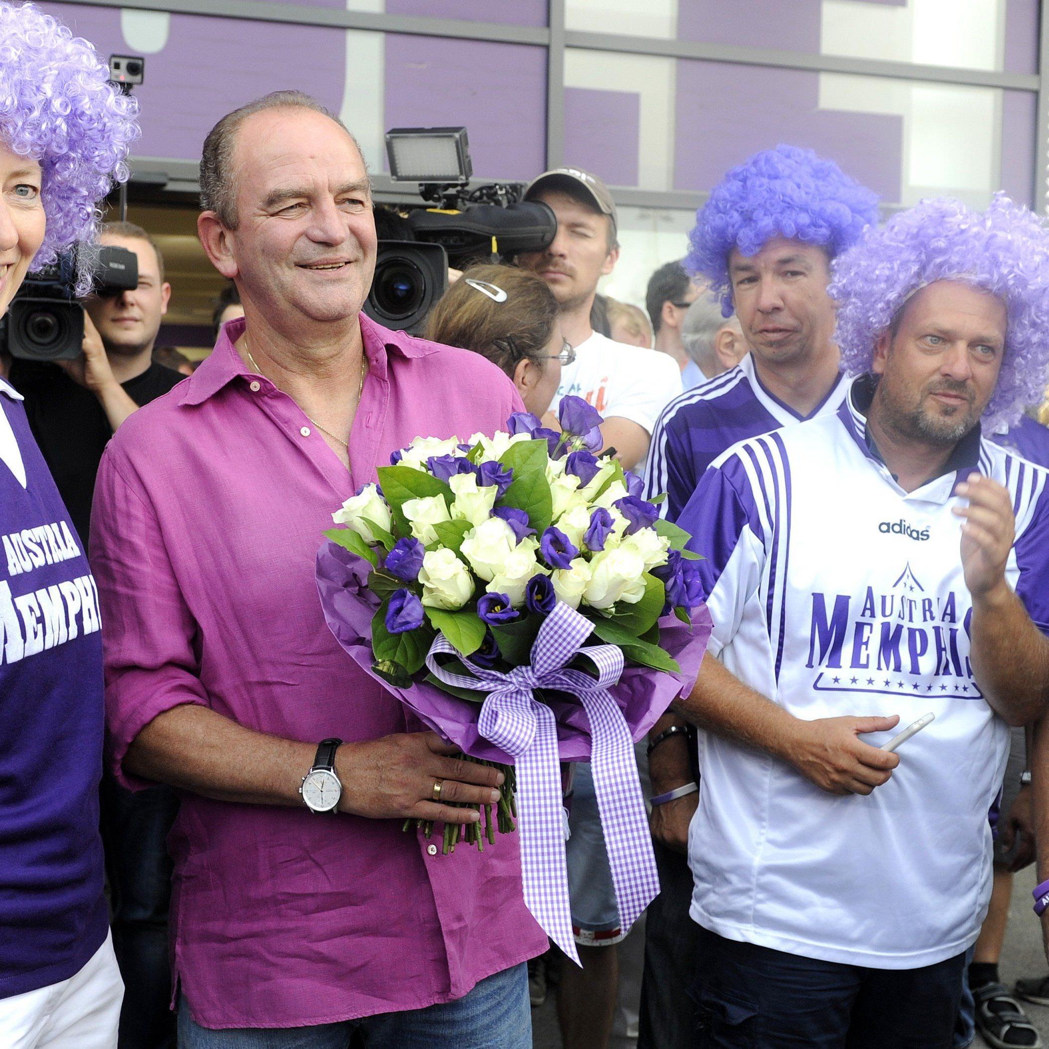 Herbert Prohaska feierte seinen 60. Geburtstag bei der Wiener Austria.