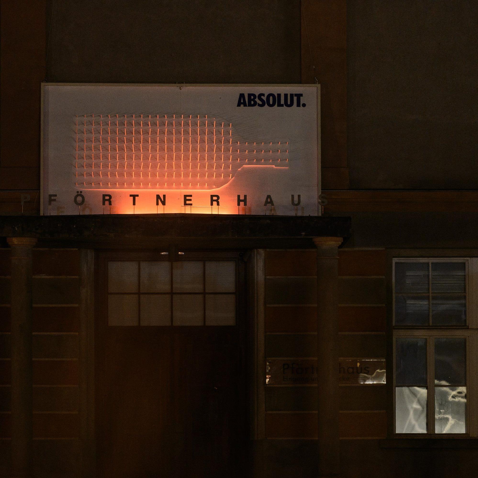 Eine Installation aus Licht und Schatten: Absolut Shadows.
