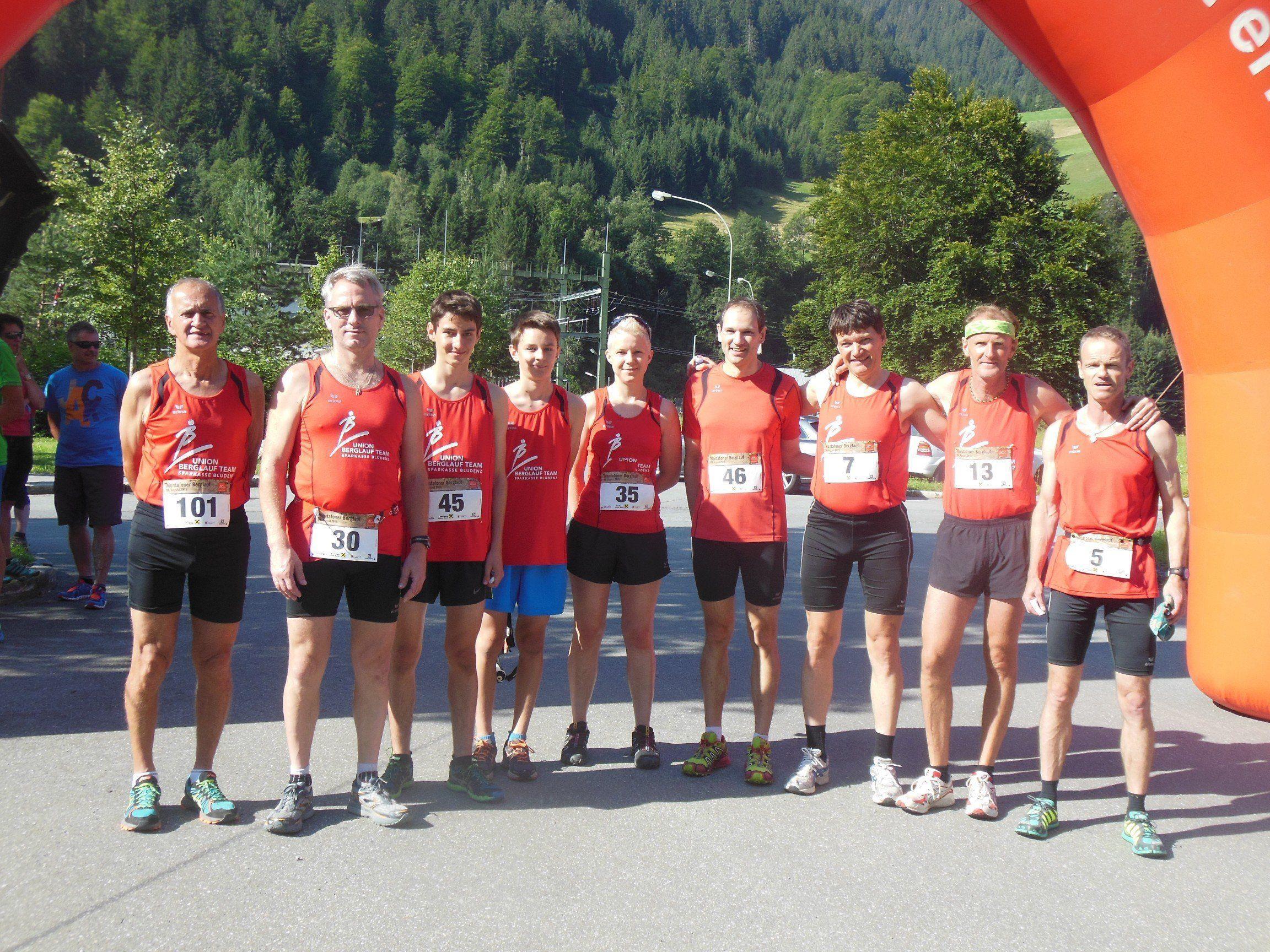 9 BLT Läufer beteiligten sich an dem Sprintberglauf in Partenen