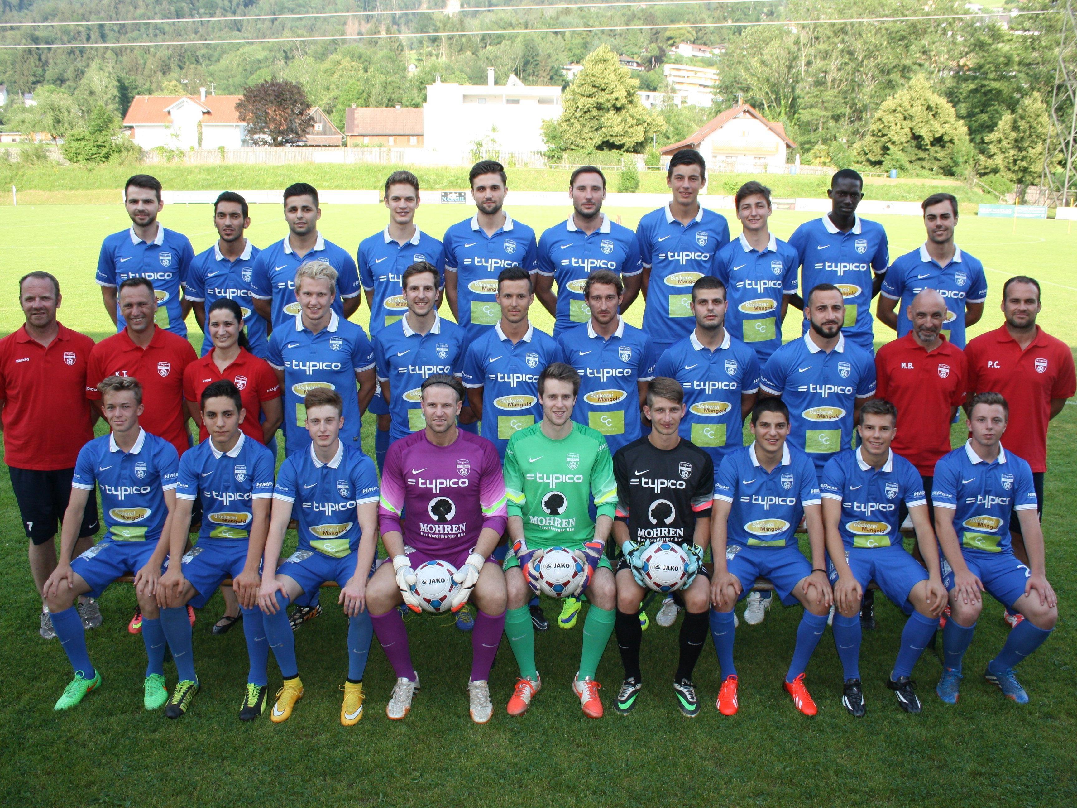 Der Kader der Kampfmannschaft des SV Typico Lochau ist für die Landesliga-Meisterschaft 2015/16 bestens aufgestellt.