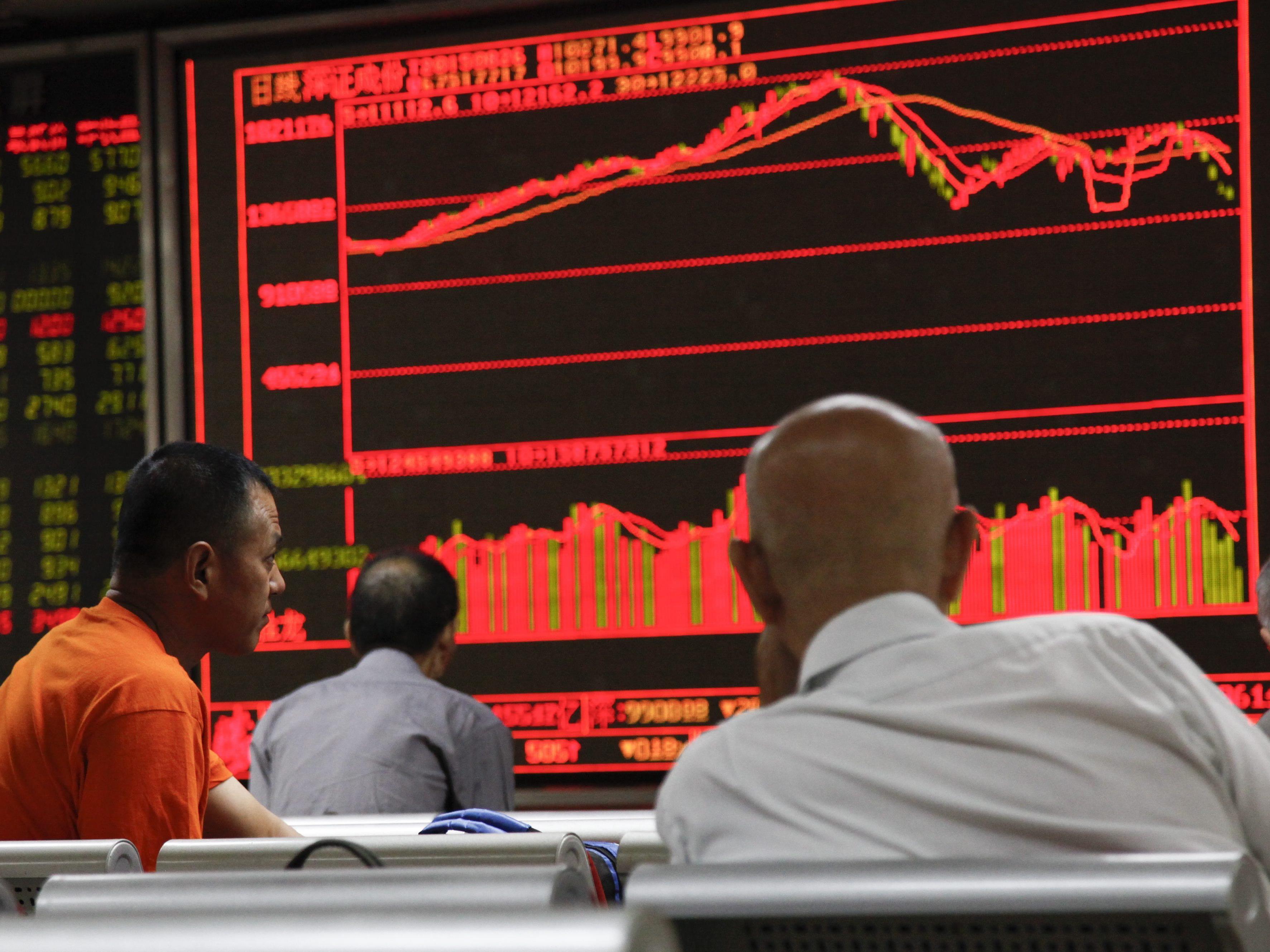 """Ein Journalist soll """"gestanden"""", die Kursverluste an Chinas Börse verursacht zu haben."""