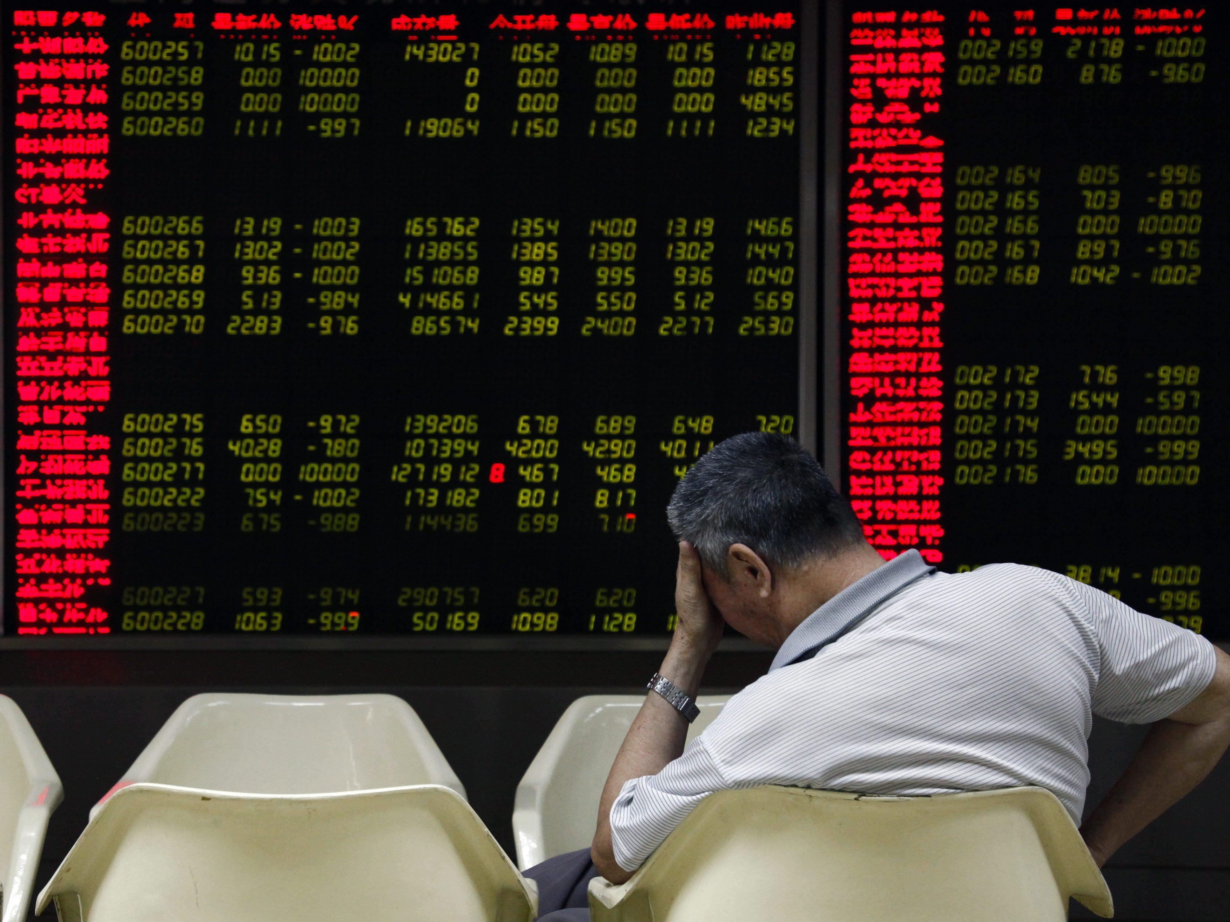 Asiens Börsen brechen ein - Crash reißt Europas Leitbörsen in tiefroten Bereich.