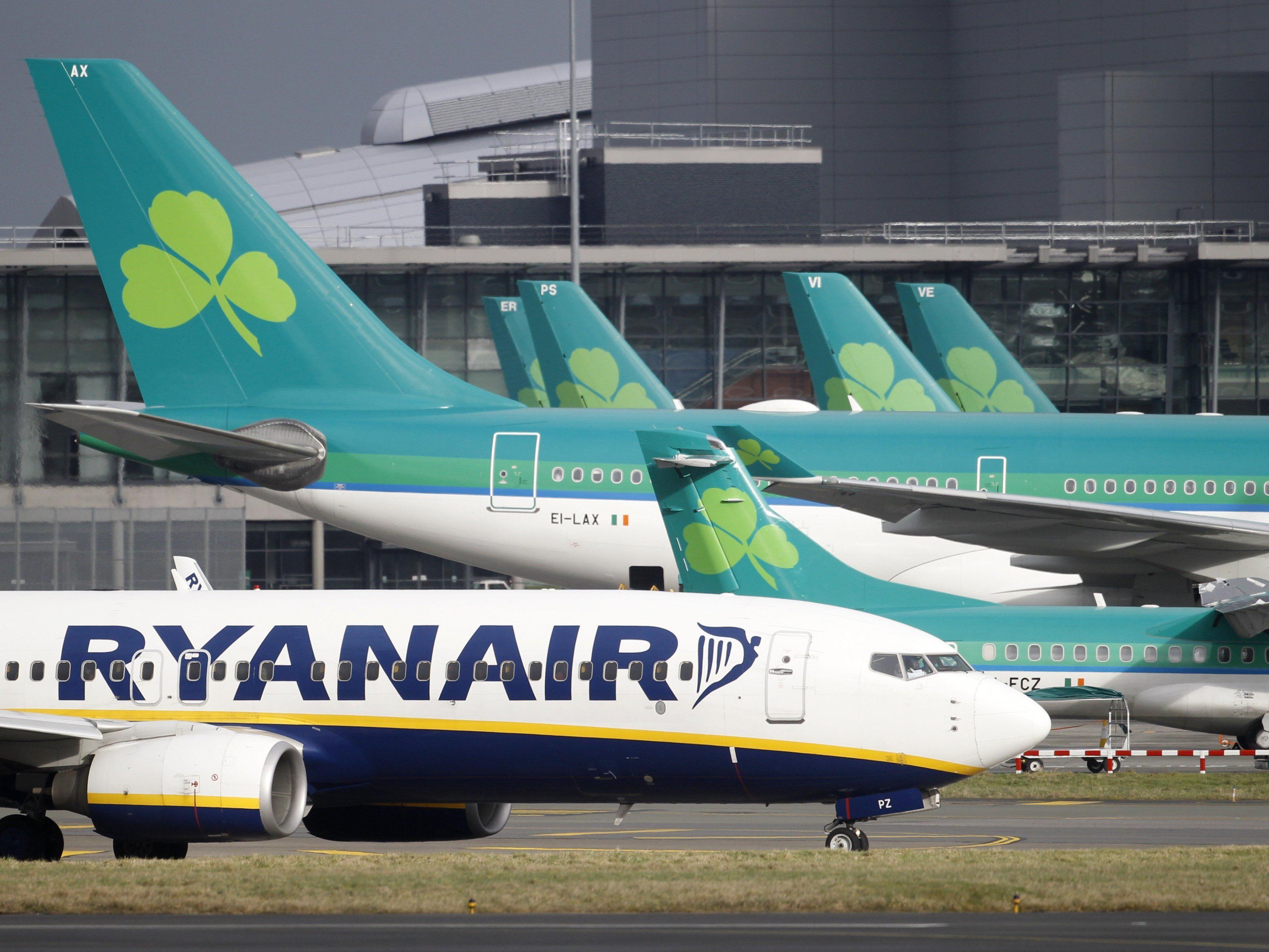Vor allem Aer Lingus und Ryanair nutzen Dublin als Drehkreuz.