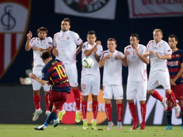 Messi als Freistoßkünstler