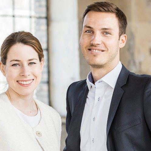 Peter Flatscher (Geschäftsführer JWV) und Stefanie Walser (Vorsitzende JWV)
