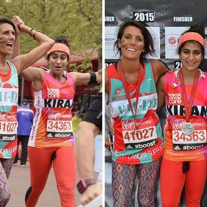 """Kiran Gandhi: """"Schwestern, Blut und Brüste beim London-Marathon 2015."""""""