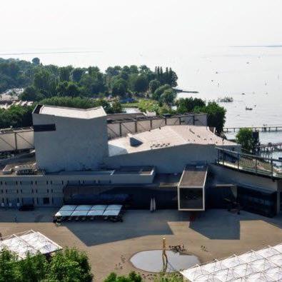 Luftaufnahme Festspielhaus Bregenz