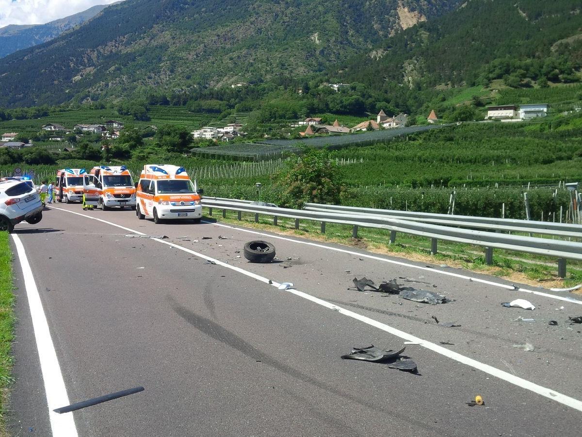Vorarlberger Familie in schweren Unfall verwickelt.