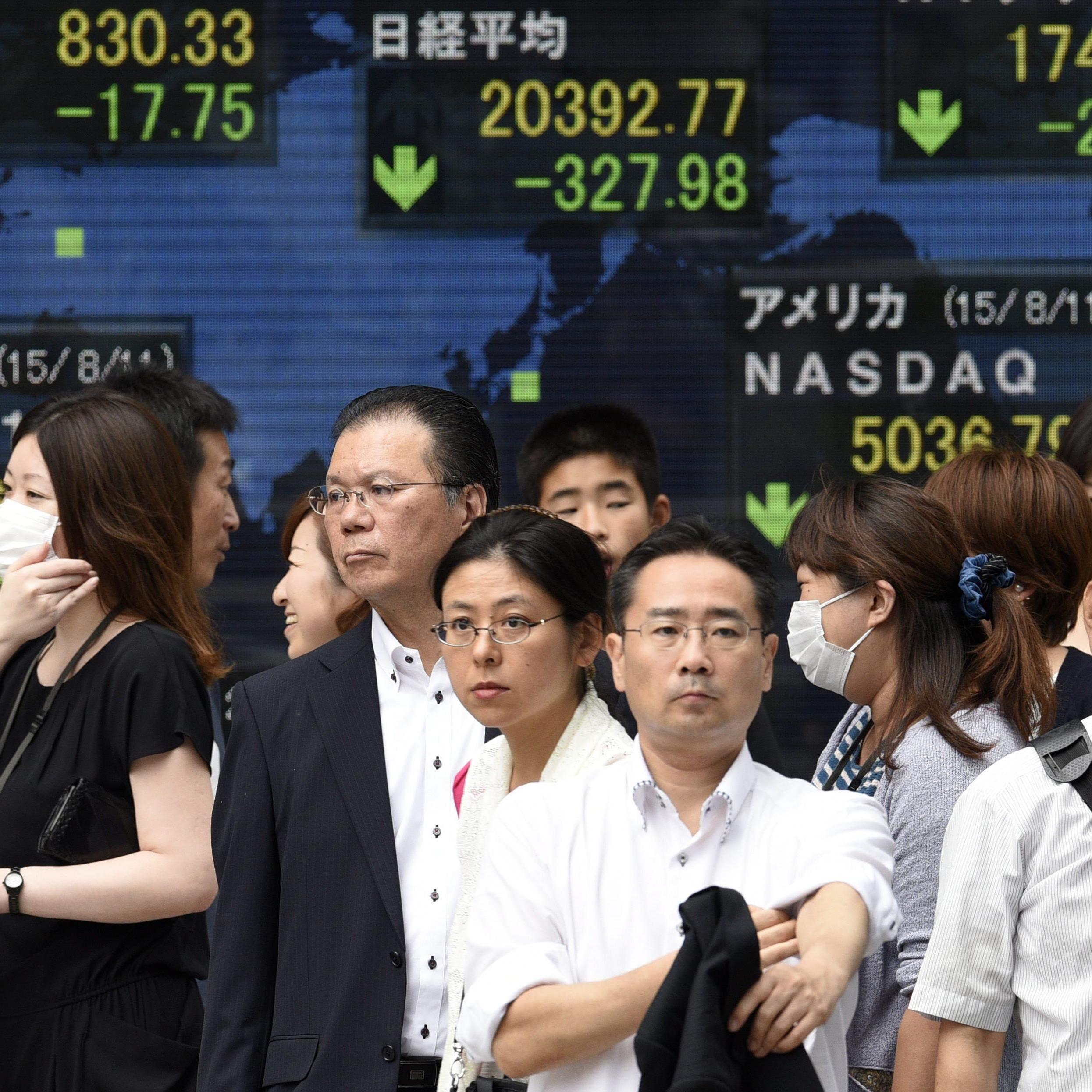 Yuan rutscht auf Vier-Jahres-Tief ab.