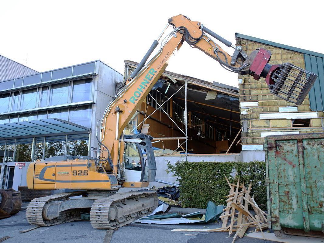 Bauarbeiten am Messegelände in Dornbirn gestartet.
