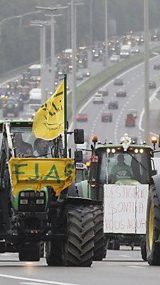 Überall in Europa gab es Milchbauern-Proteste