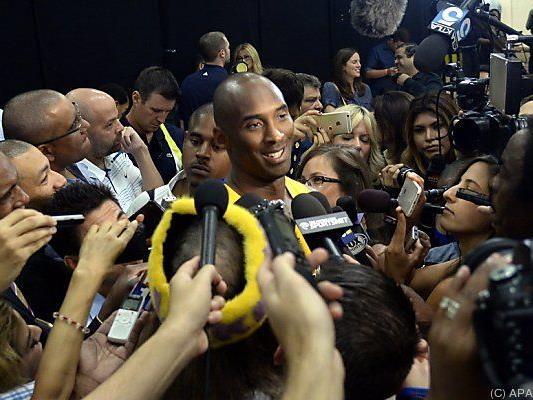 Kobe Bryant beim traditionellen NBA-Pressetag