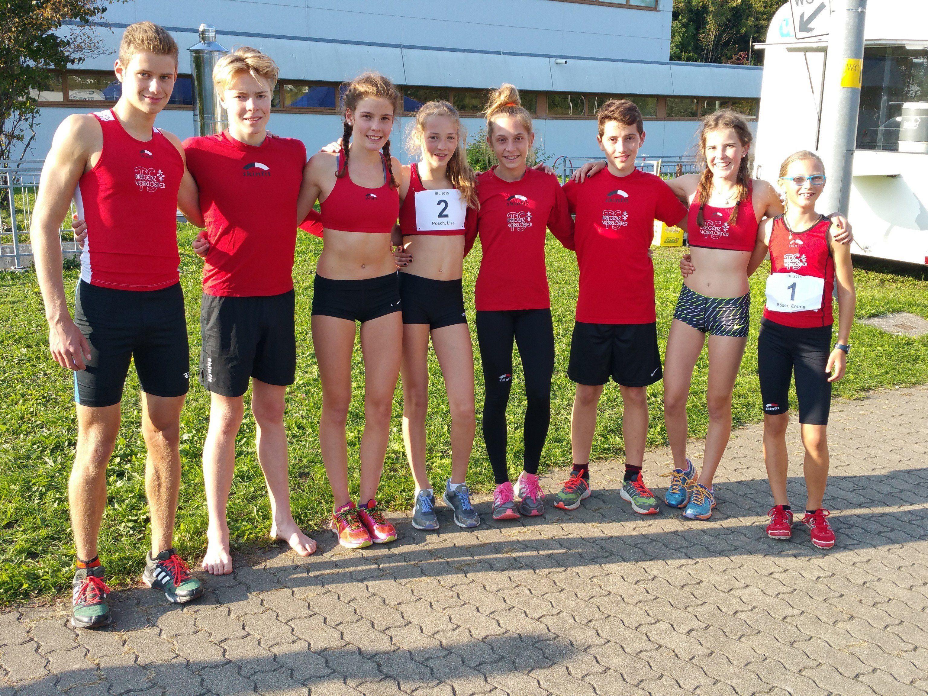 Die erfolgreichen Teilnehmer der TS Bregenz-Vorkloster in Tettnang.