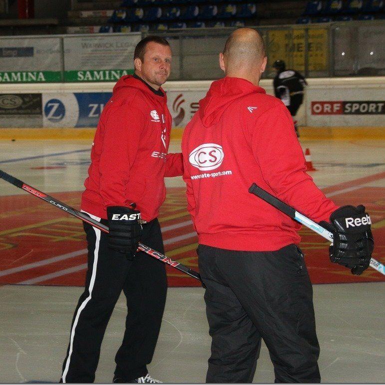 VEU Trainergepann Michael Lampert und Bernd Walch haben heuer viel vor