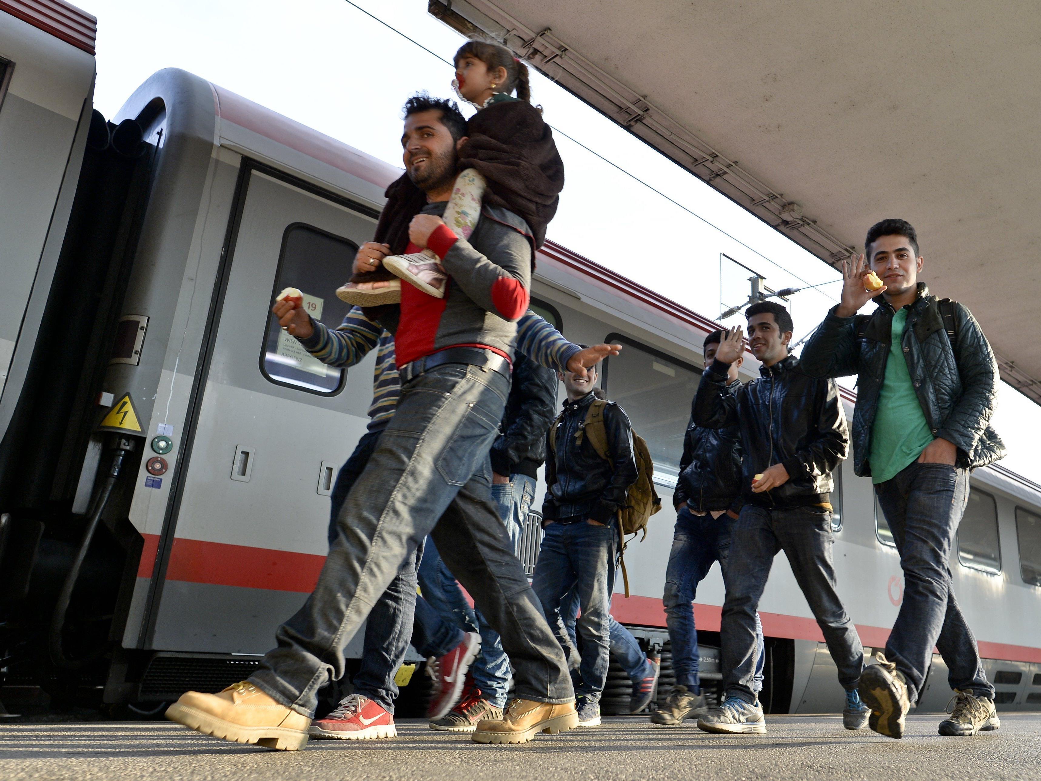 In Wien kommen jeden Tag hunderte Flüchtlinge an.