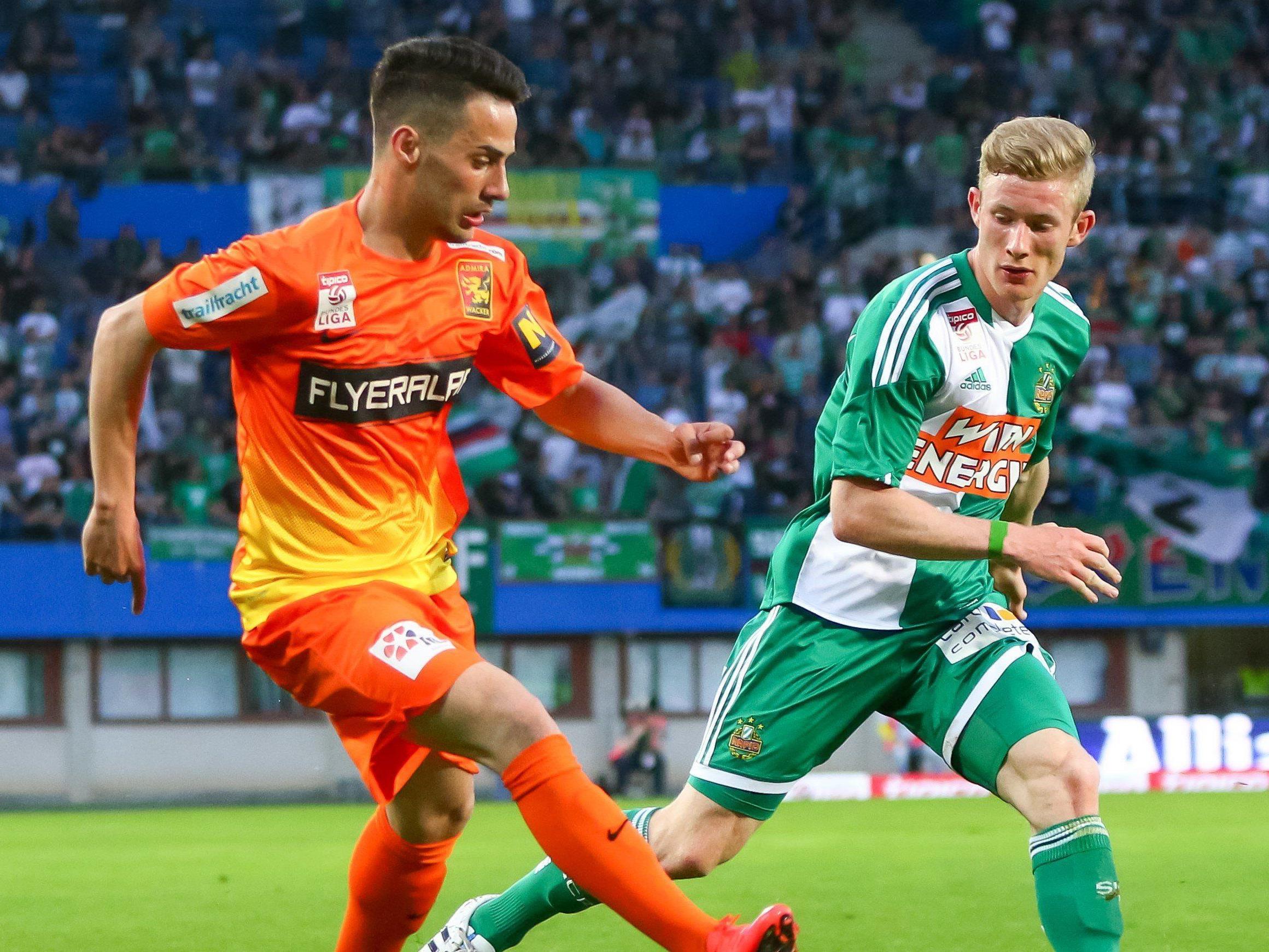 LIVE-Ticker zum Spiel SK Rapid Wien gegen FC ADmira Wacker Mödling ab 16.30 Uhr.