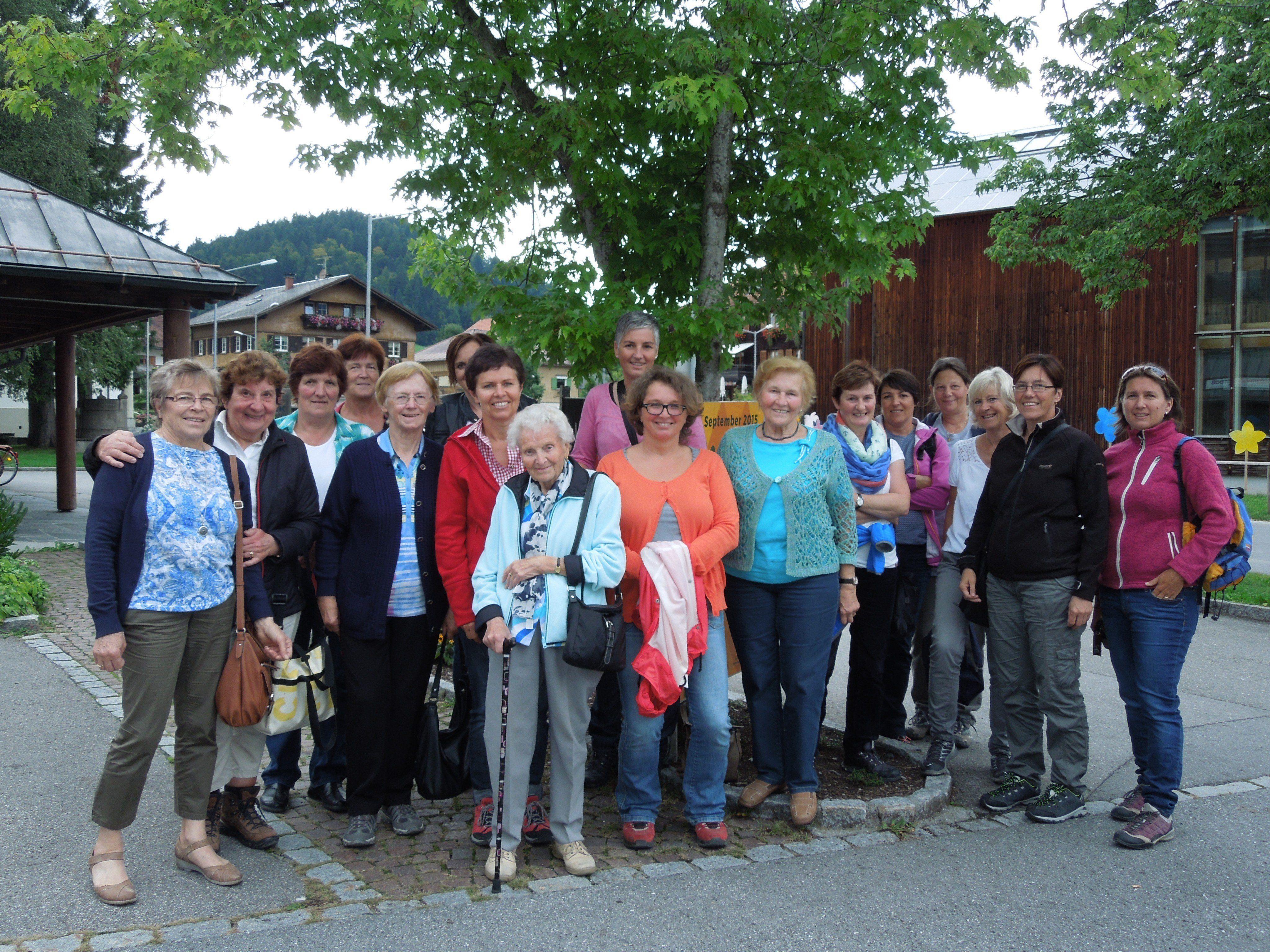 Gruppenfoto in Hittisau