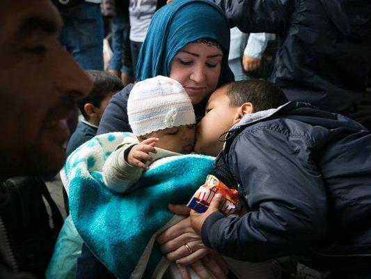 Syrische Flüchtlinge.