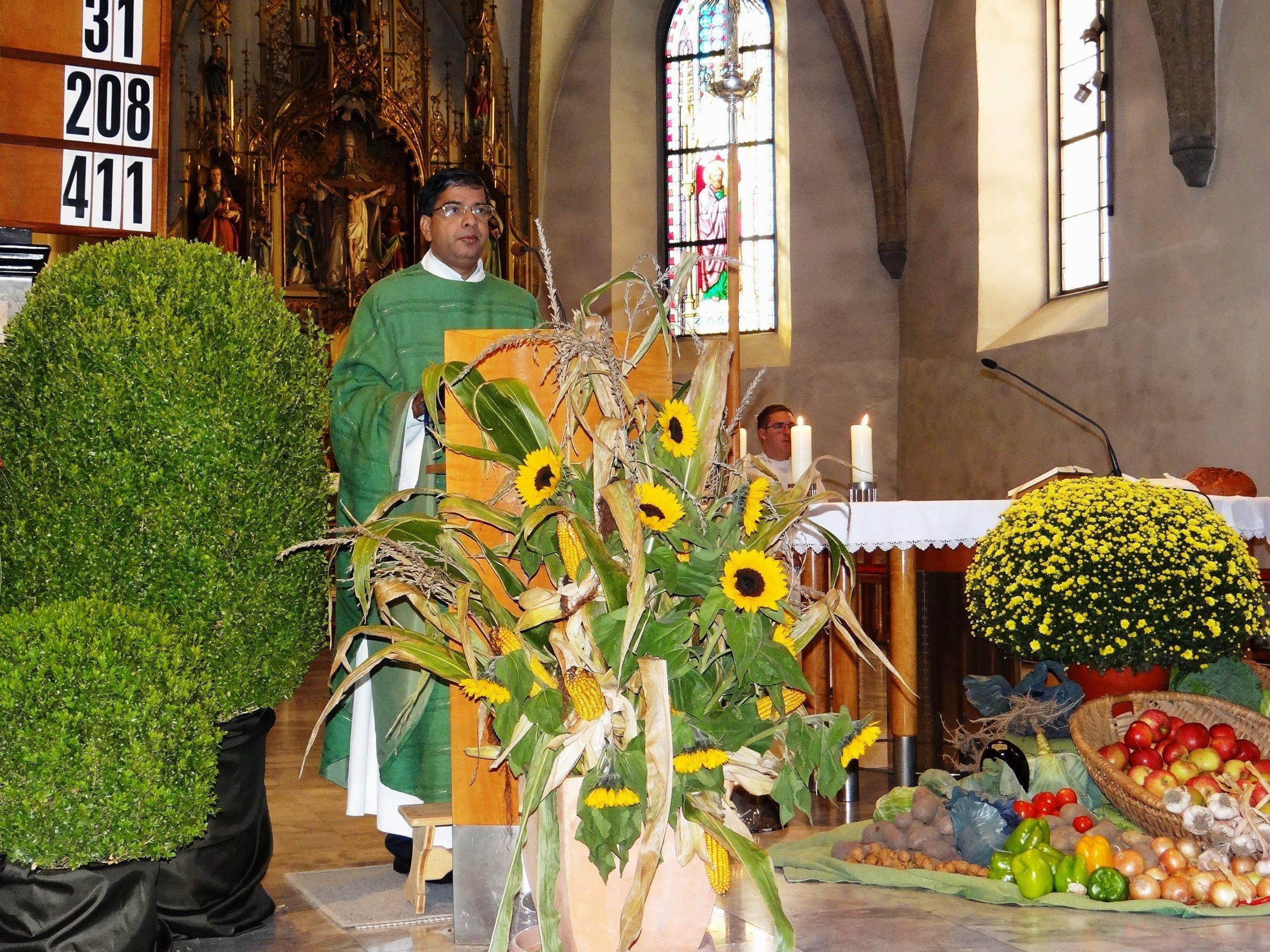 Pfarrgemeinde dankt für reiche Ernte