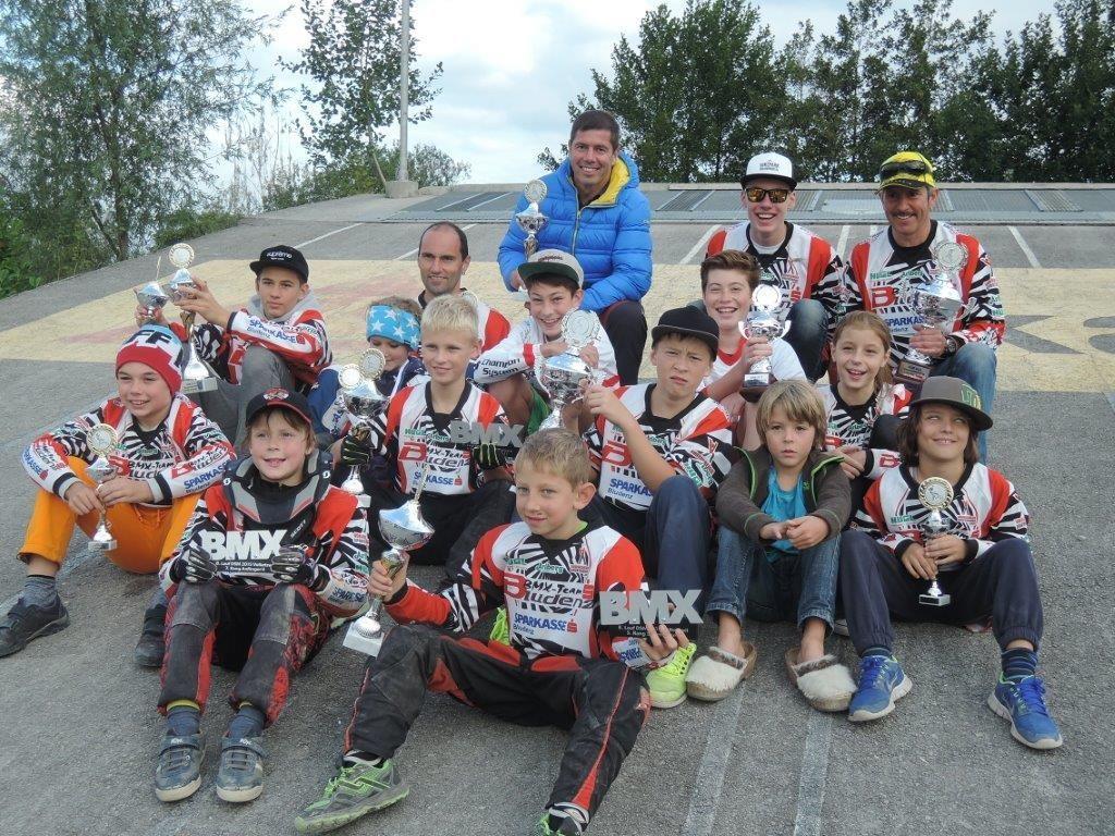 Das Bludenzer BMX-Team in Volketswil