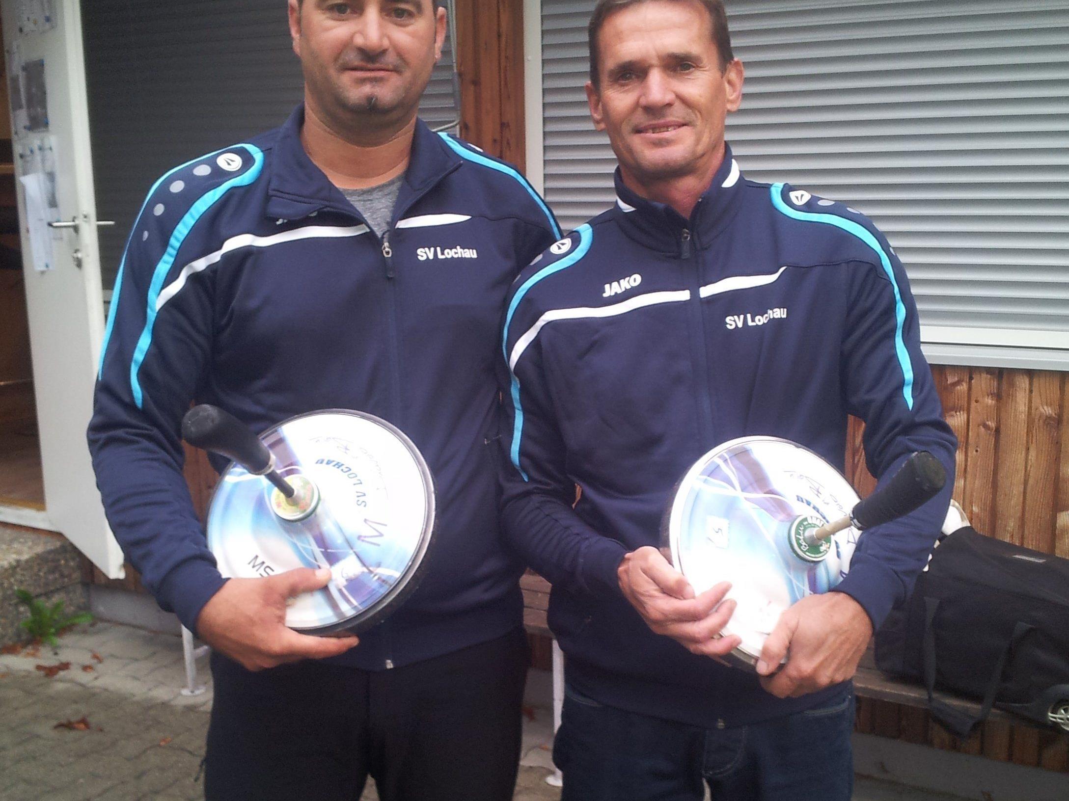 Die beiden erfolgreichen Stocksportler:  Robert Pienz und Harald Rüscher