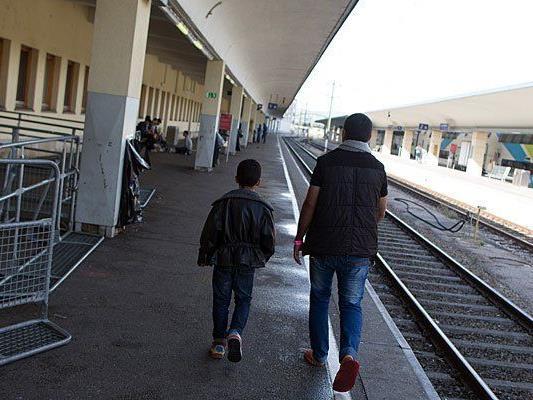 Flüchtlinge am Wiener Westbahnhof - die Lage ist entspannt