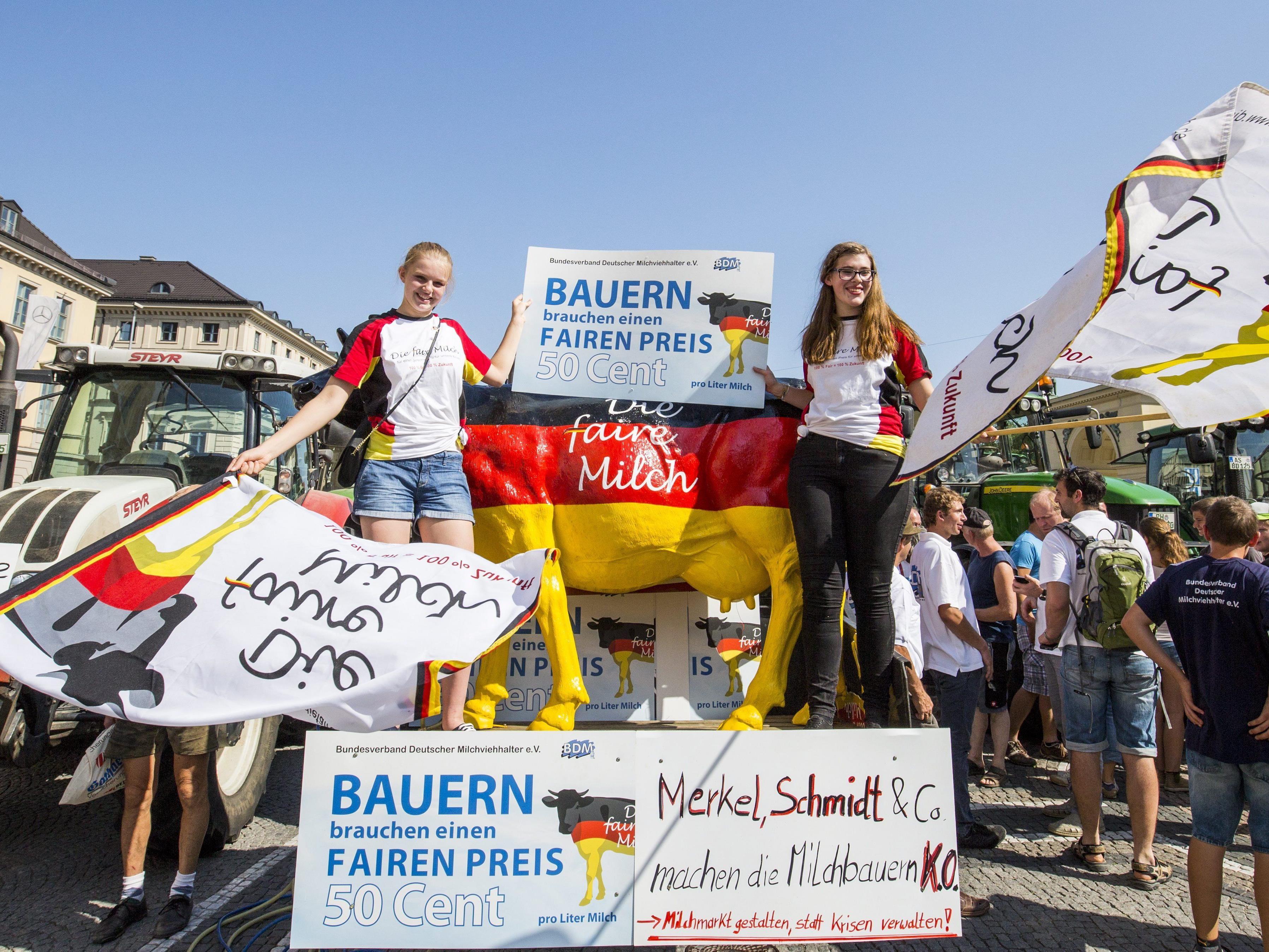 Auch Österreicher bei Großdemo in München an Ort und Stelle.