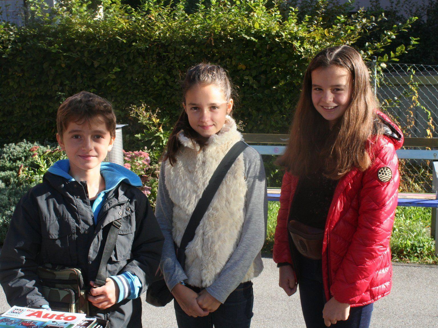 Pius, Mathilda und Tabea waren mit dabei