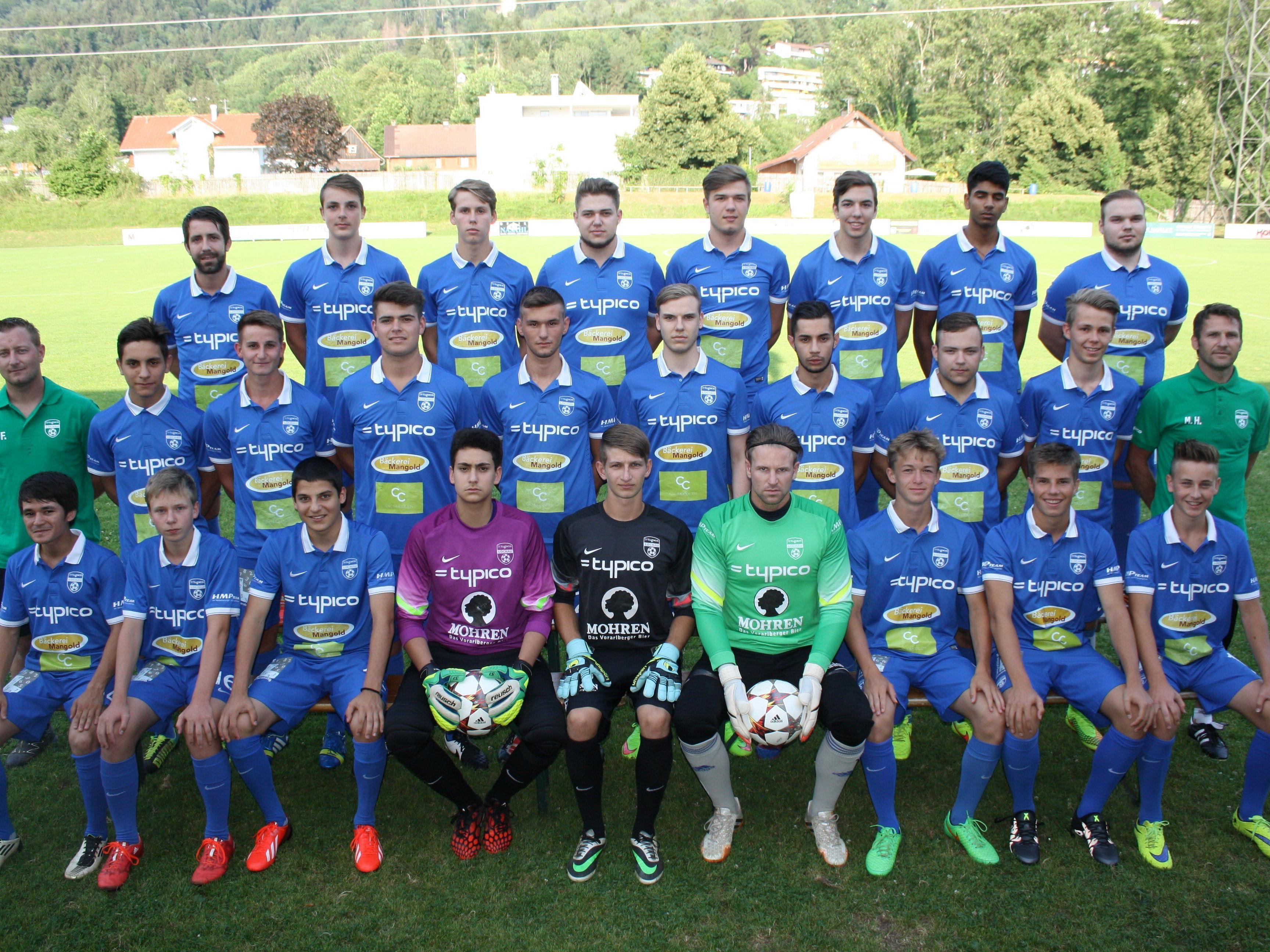 Der Kader des erfolgreichen 1b-Teams des SV Typico Lochau für die Spielsaison 2015/16 – nach vier Runden Tabellenführer in der 3. Landesklasse