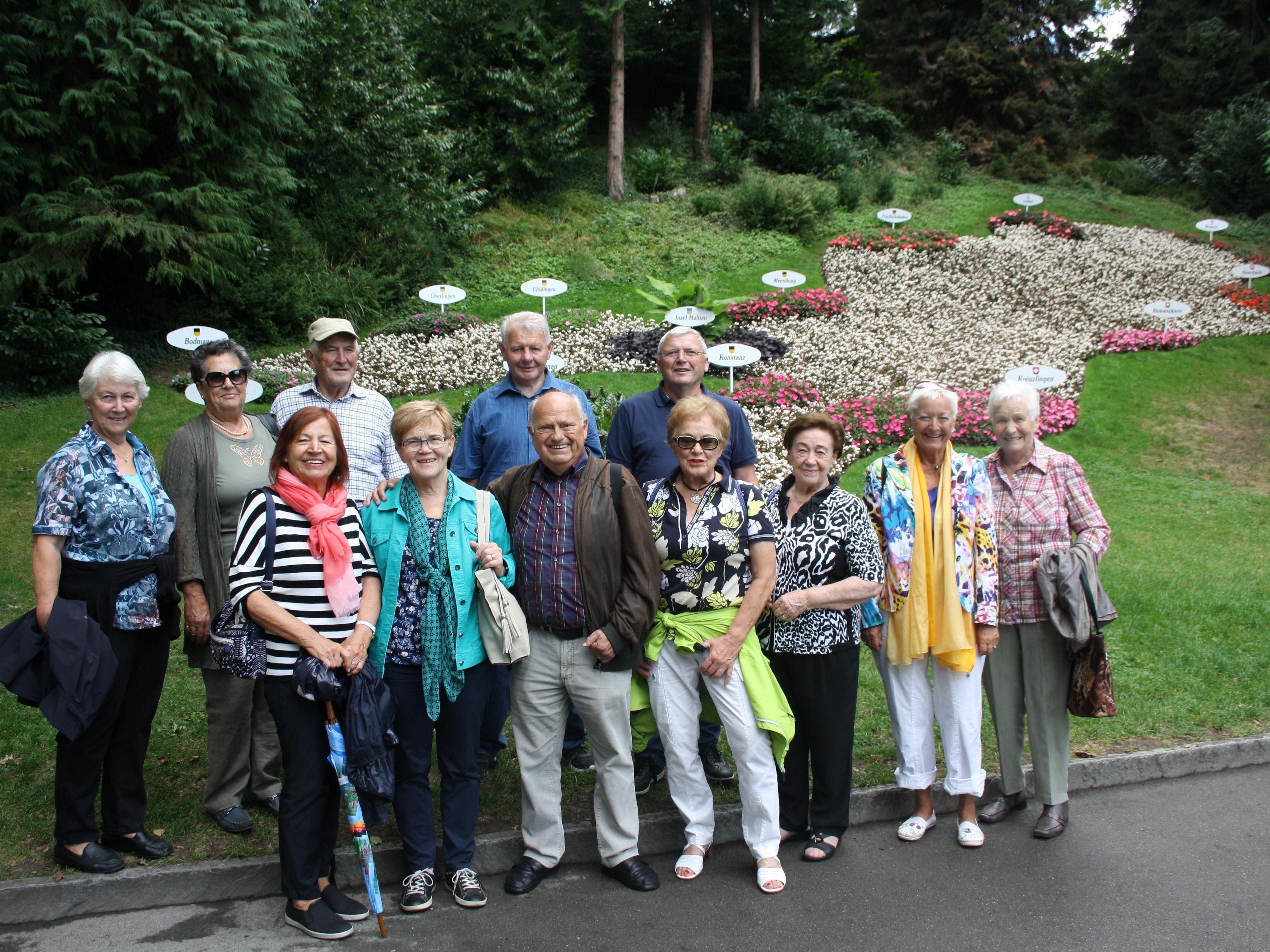 Die Insel Mainau begeisterte mit dem Schloss, den wunderbaren Parkanlagen und der aktuellen Dahlienschau die Besucher aus dem Ländle.