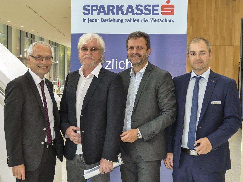 .) Anton Steinberger, Reinhold Bilgeri, Herbert Loos und Daniel Mierer.