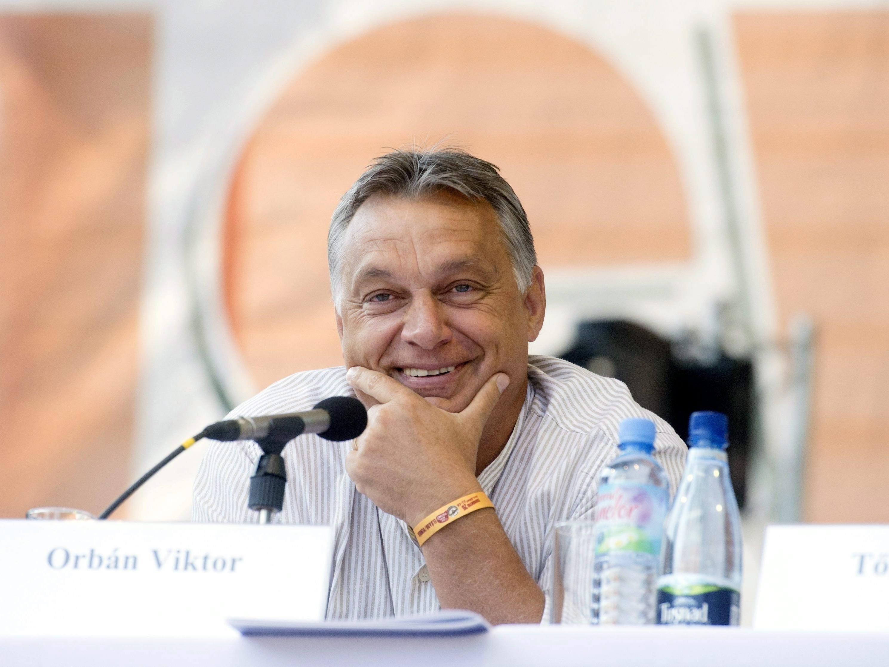 """Keiner der Flüchtlinge wolle """"in Ungarn bleiben"""", gibt Viktor Orban in Brüssel zu Protokoll."""