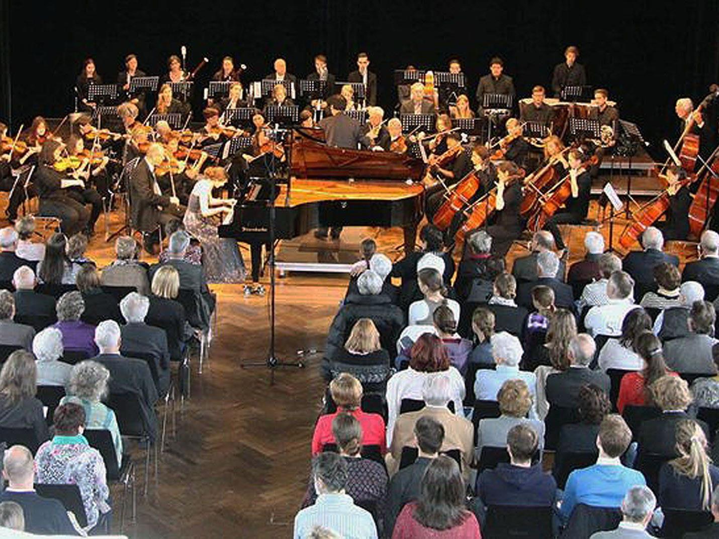 Das Stadtorchester Feldkirch spielt beim Benefizkonzert am Sunnahof groß auf.