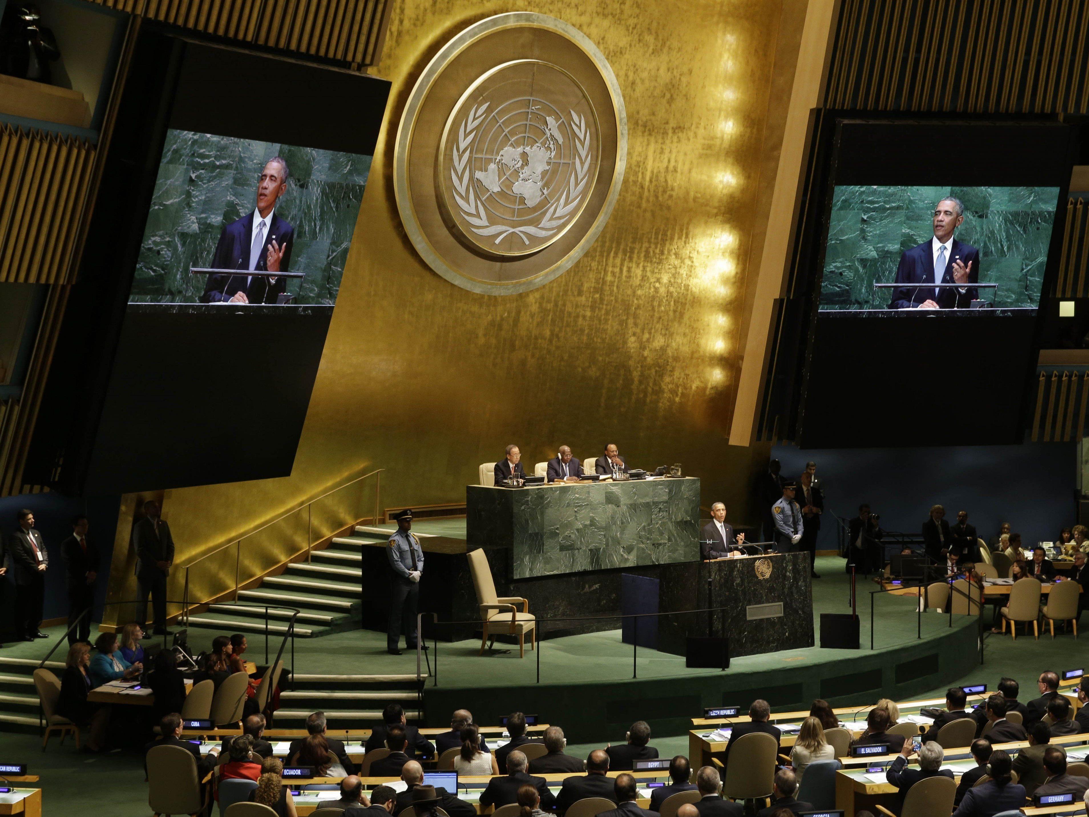 UNO-Generalversammlung 2015: Papst-Besuch, Nachhaltigkeitsgipfel, Generaldebatte.