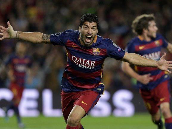 Suarez erzielte den etwas glücklichen Siegtreffer für den FC Barcelona.