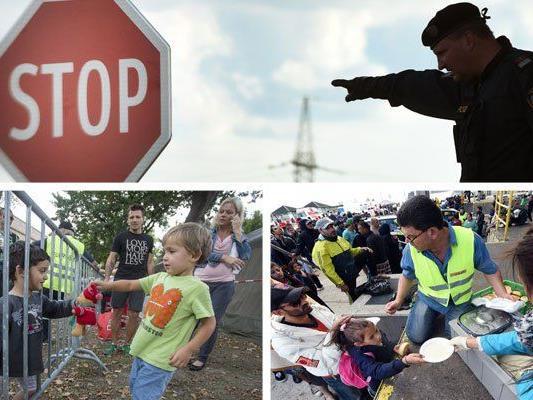 Aktuelle Bilder der Flüchtlingskrise.