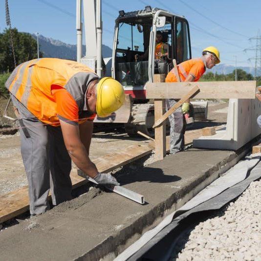 Die Bauarbeiten am Güterterminal Wofurt liegen voll im Plan