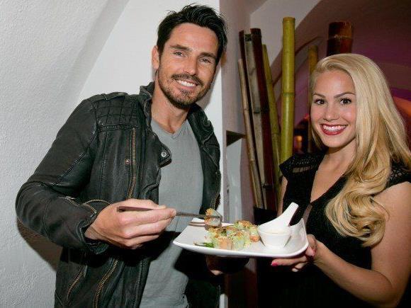 Angelina Heger war im Februar in Salzburg zu Besuch.