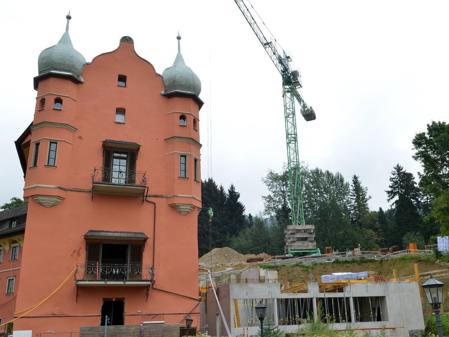 Baustelle Schloss Hofen in Lochau.
