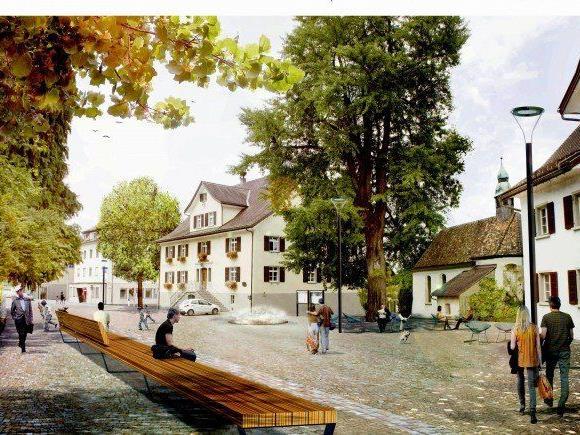 Visualisierung Rathausplatz.