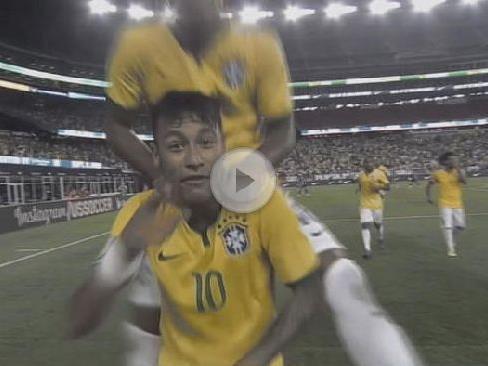 Neymar und Kollegen hatten mit den US-Boys ihren Spaß.