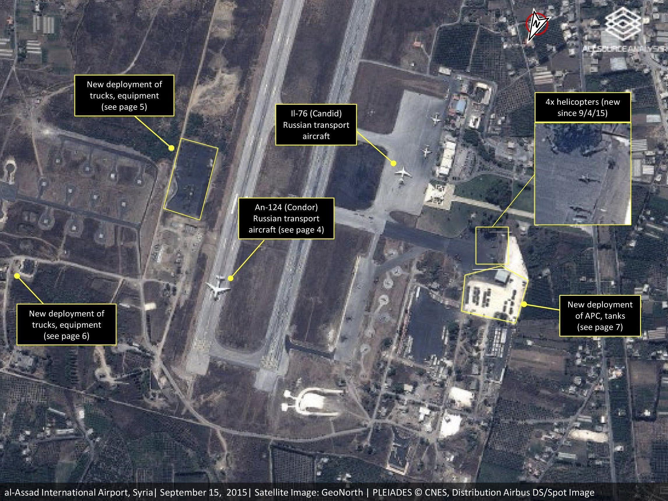 Satellitenbild zeigt russische Streitkräfte in der syrischen Stadt Latakia.